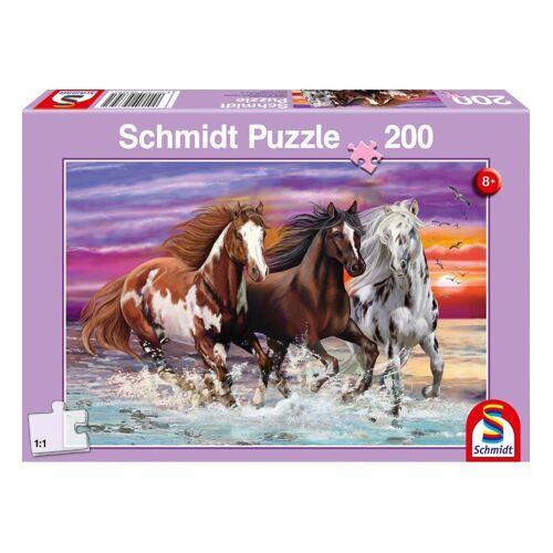 Schmidt Spiele Puzzle »Wildes Pferde-Trio«, 200 Puzzleteile