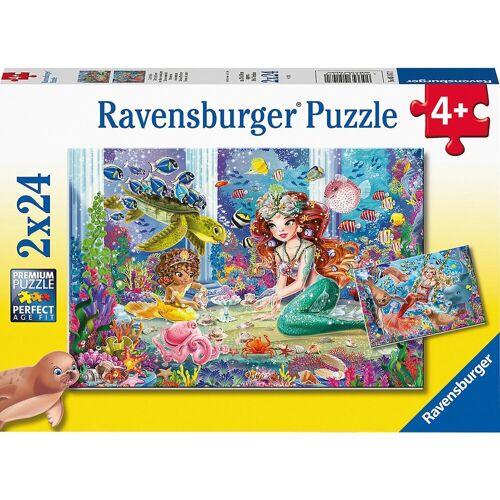 Ravensburger Puzzle »Puzzle Zauberhafte Meerjungfrauen, 2x24 Teile«, Puzzleteile