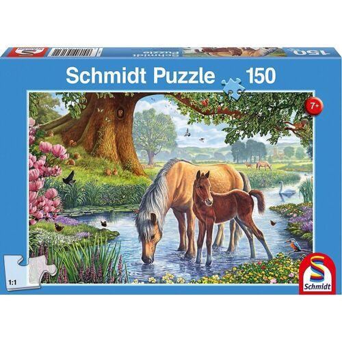 Schmidt Spiele Puzzle »Puzzle Pferde am Bach, 150 Teile«, Puzzleteile