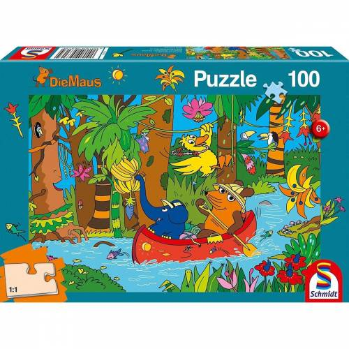 Schmidt Spiele Puzzle »Puzzle - Die Maus, Im Dschungel - 100 Teile«, Puzzleteile