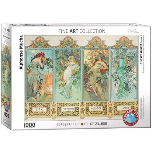 empireposter Puzzle »Alphonse Mucha - Die vier Jahreszeiten - 1000 Teile Puzzle Format 68x48 cm.«, 1000 Puzzleteile