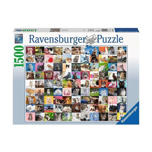 Ravensburger Puzzle »Puzzle 1500 Teile, 80x60 cm, 99 Katzen«, Puzzleteile