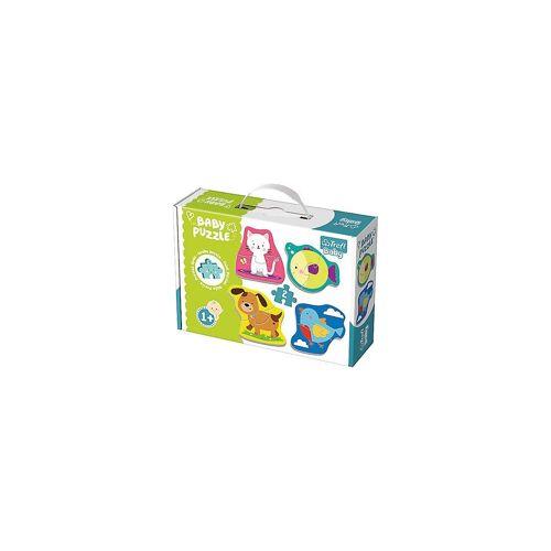 Trefl Puzzle »Baby Puzzle - Kleine Tiere (4 x 2 Teile)«, Puzzleteile