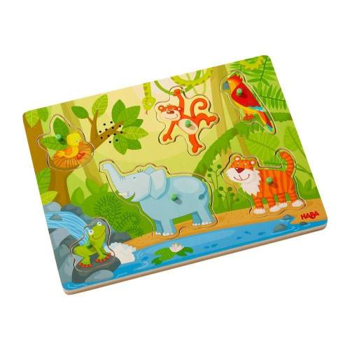 Haba Puzzle »Sound-Puzzle Im Dschungel«, 6 Puzzleteile