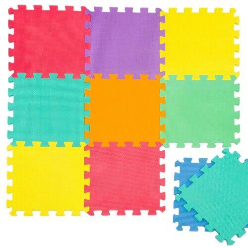 LittleTom Puzzlematte »Baby Puzzlematte ab 0 Kinder Spielmatte Uni«, 9 Puzzleteile, EVA Krabbelmatte Uni Farben