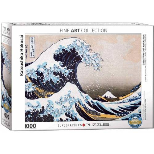 empireposter Puzzle »Hokusai - Die grosse Welle vor Kanagawa - 1000 Teile Puzzle im Format 68x48 cm«, 1000 Puzzleteile