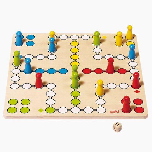 goki Spiel, Lernspiel »Brettspiel Ludo basic«, Brettspiel aus Holz
