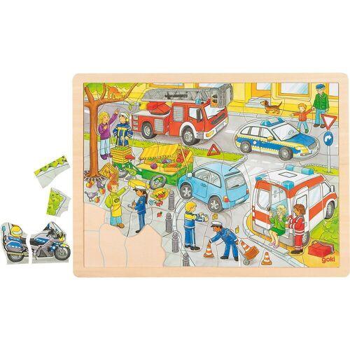 goki Steckpuzzle »Einlegepuzzle Polizeieinsatz«, Puzzleteile