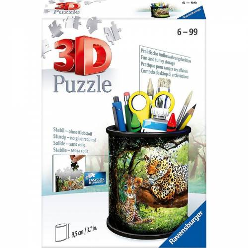 Ravensburger 3D-Puzzle »3D-Puzzle Utensilo - Raubkatzen, 54 Teile«, Puzzleteile