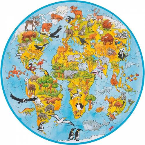 goki Puzzle »XXL Puzzle 49 Teile Welt«, Puzzleteile