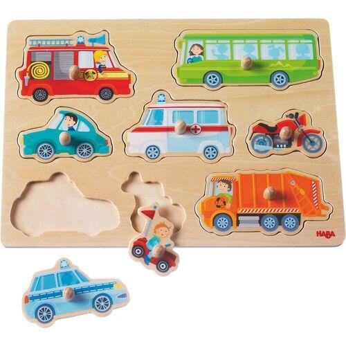 Haba Steckpuzzle »Greifpuzzle Fahrzeug Welt«, Puzzleteile