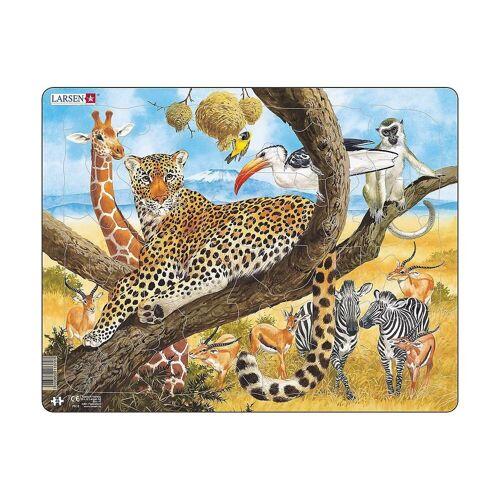 Larsen Puzzle »Rahmen-Puzzle, 48 Teile, 36x28 cm, Leopard«, Puzzleteile