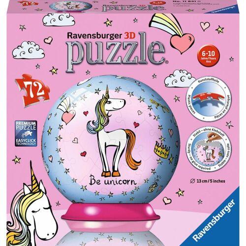Ravensburger 3D-Puzzle »Einhorn - Puzzle-Ball«, 72 Puzzleteile