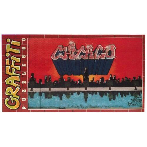 """Clementoni® Steckpuzzle »Clementoni Graffiti Puzzle 500 Teile """"Chicago""""«, 500 Puzzleteile"""