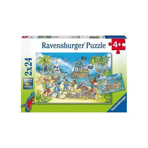 Ravensburger Puzzle »Puzzle Die Abenteuerinsel, 2x24 Teile«, Puzzleteile