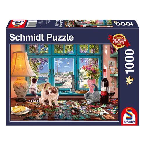 Schmidt Spiele Puzzle »Am Puzzletisch«, 1000 Puzzleteile