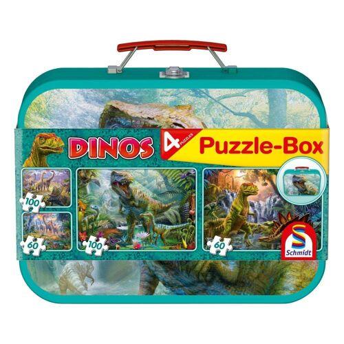 Schmidt Spiele Puzzle »Puzzle-Box Dinos 2x60, 2x100 Teile«, 320 Puzzleteile