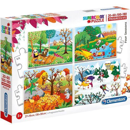 Clementoni® Puzzle »Puzzle-Set 20/60/100/180 Teile - Jahreszeiten«, Puzzleteile