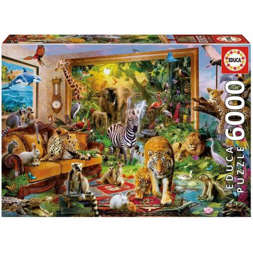 Educa Puzzle »BETRETEN DES ZIMMERS«, 5000 Puzzleteile