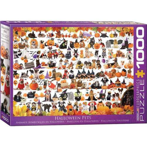 empireposter Puzzle »Halloween Welpen und Kätzchen - 1000 Teile Puzzle im Format 68x48 cm«, 1000 Puzzleteile