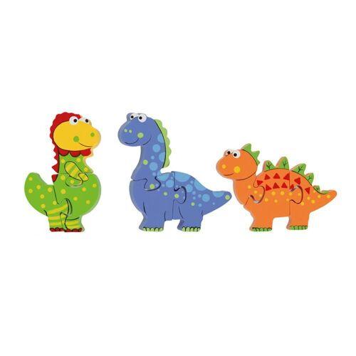 Nici Konturenpuzzle »Mini Puzzle Set Dinosaurier«, 9 Puzzleteile