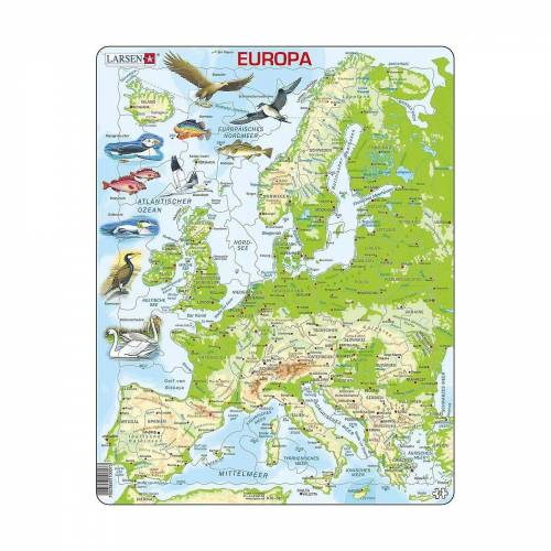 Larsen Puzzle »Puzzle - Europa (physisch)«, Puzzleteile
