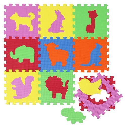 LittleTom Puzzlematte »Baby Puzzlematte ab 0 Kinder Spielmatte«, 10 Puzzleteile, EVA Krabbelmatte Zoo Tiere