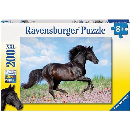 Ravensburger Puzzle »Puzzle, 200 Teile XXL, 49x36 cm, Schwarzer Hengst«, Puzzleteile
