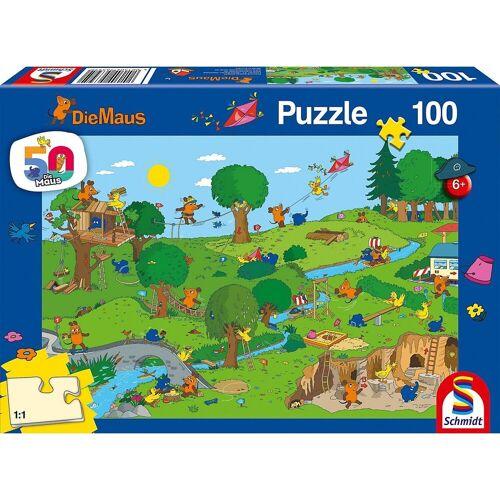 Schmidt Spiele Puzzle »Puzzle Die Maus Im Spielpark, 100 Teile«, Puzzleteile