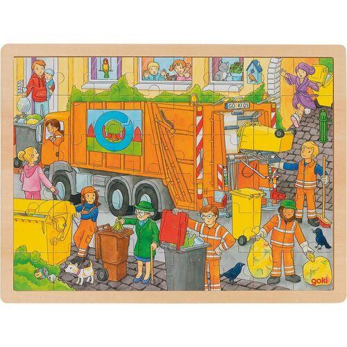 goki Puzzle »Einlegepuzzle Müllabfuhr«, Puzzleteile