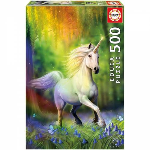 Educa Puzzle »Puzzle Regenbogen Einhorn, 500 Teile«, Puzzleteile