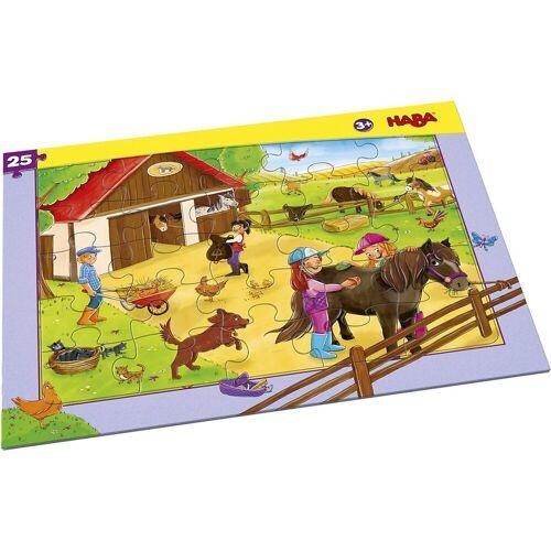 Haba Puzzle »304654 Rahmenpuzzle 25 Teile Pferdehof«, Puzzleteile