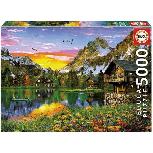 Educa Puzzle »See in Den Alpen«, 5000 Puzzleteile