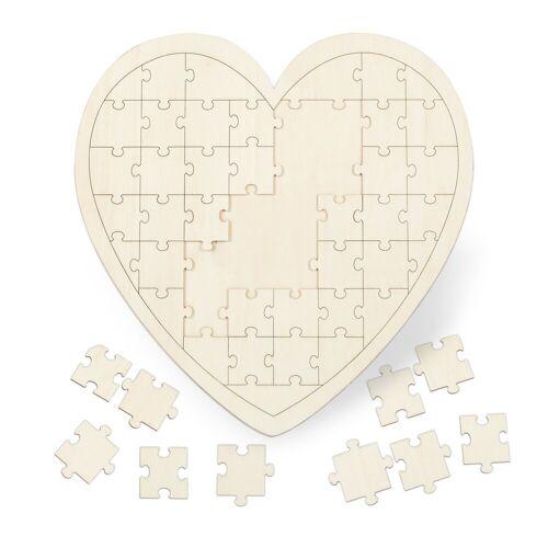 relaxdays Puzzle »Herzpuzzle Hochzeit aus Holz«, Puzzleteile