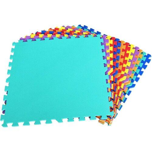 COSTWAY Puzzlematte »Puzzlematte 24 Stück«, 12 Stück, 60x60x1cm, Bunt