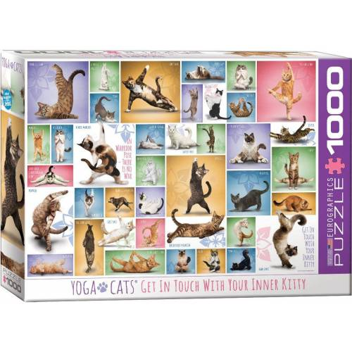 empireposter Puzzle »Yoga Katzen - 1000 Teile Puzzle Format 68x48 cm«, 1000 Puzzleteile