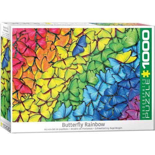 empireposter Puzzle »Leuchtender Regenbogen aus Schmetterlingen - 1000 Teile Puzzle im Format 68x48 cm«, 1000 Puzzleteile