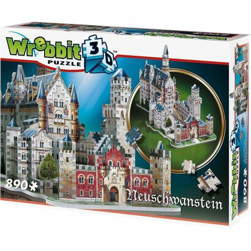 Wrebbit 3D-Puzzle »3D Puzzle 890 Teile Schloss Neuschwanstein«, Puzzleteile