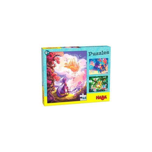 Haba Puzzle »305917 Puzzle Im Fantasieland, 3 x 48 Teile«, Puzzleteile