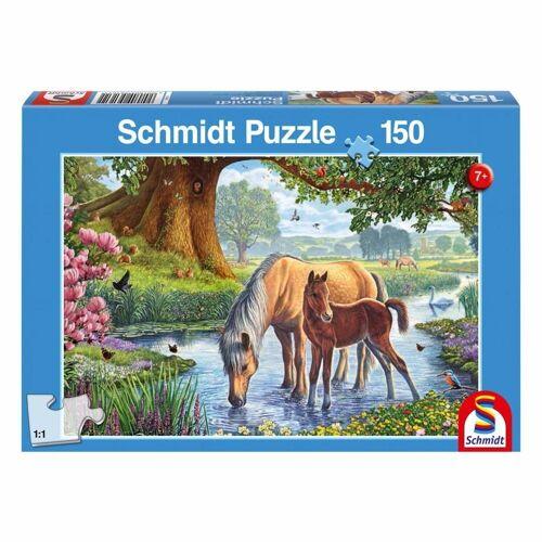 Schmidt Spiele Puzzle »Pferde am Bach«, 150 Puzzleteile