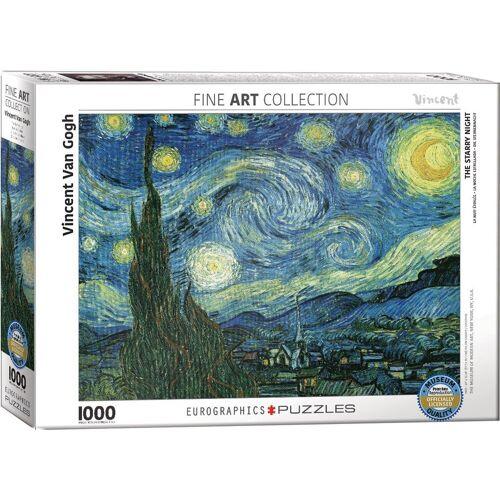empireposter Puzzle »Vincent van Gogh - Sternennacht - 1000 Teile Puzzle Format 68x48 cm«, 1000 Puzzleteile