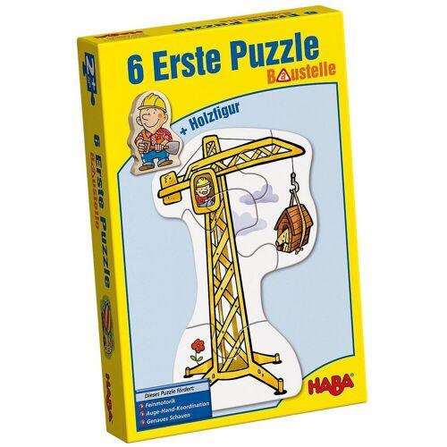 Haba Puzzle »3901 6 Erste Puzzle - Baustelle«, Puzzleteile