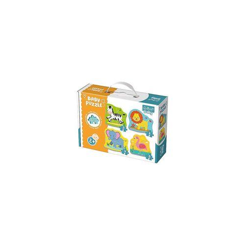 Trefl Puzzle »Baby Puzzle - Safaritiere (3/4/5/6 Teile)«, Puzzleteile