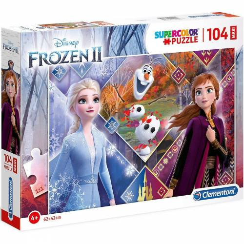 Clementoni® Puzzle »Puzzle 104 Teile Maxi Die Eiskönigin 2«, Puzzleteile