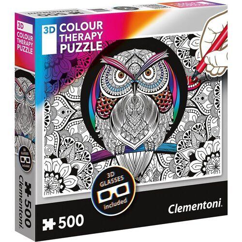 Clementoni® Puzzle »Puzzle 500 Teile - Colour Therapy Eule«, Puzzleteile