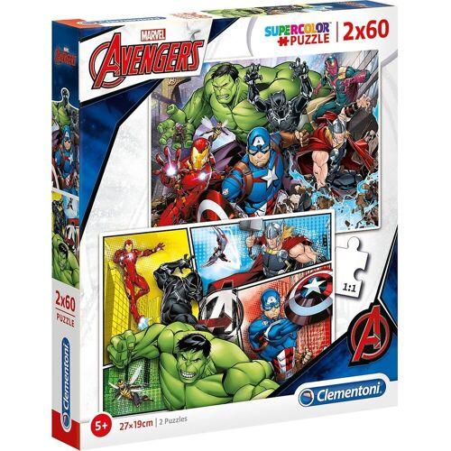 Clementoni® Puzzle »Puzzle 2x60 Teile - The Avengers«, Puzzleteile