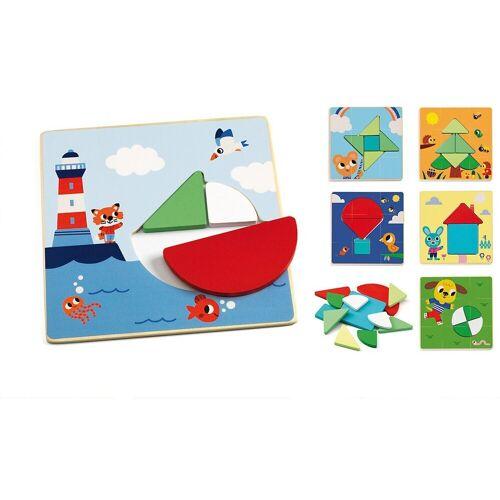 DJECO Steckpuzzle »Steckpuzzle Tangramini«, Puzzleteile