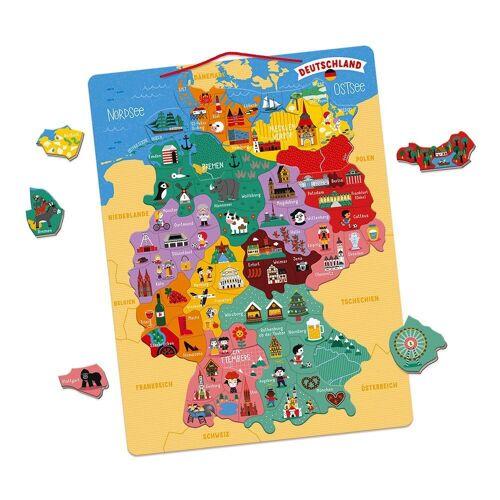 Janod Konturenpuzzle »Magnetische Landkarte«, 79 Puzzleteile