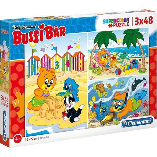 Clementoni® Puzzle »Puzzle 3 x 48 Teile Bussi Bär«, Puzzleteile