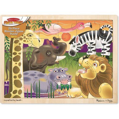 Melissa & Doug Puzzle »Holzpuzzle - Afrikanische Steppe, 24 Teile«, Puzzleteile